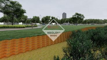 Dự án tường chắn Neoweb - khu đô thị Bắc Sông Cấm - Hải Phòng