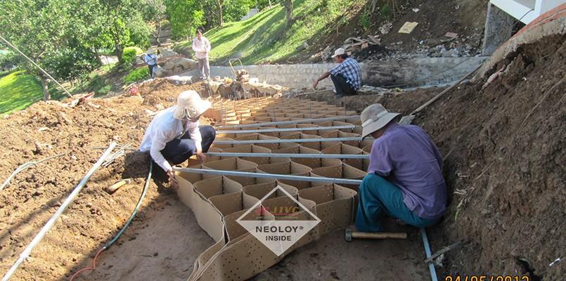 Dự án Neoloy bảo vệ mái dốc TaPao, Bình Thuận