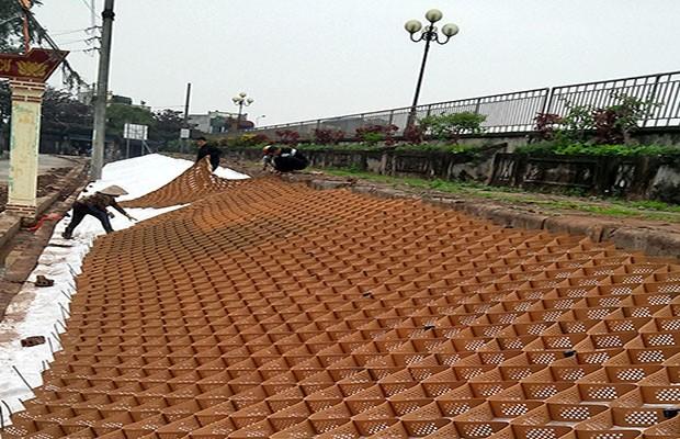 Dự án Neoweb gia cố mái đê Hữu Đào - Nam Định