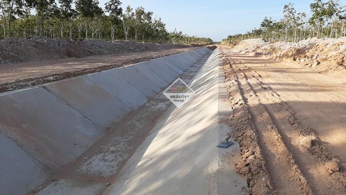 Dự án Neoweb/Neoloy Gia cố Kênh Chính Tây - Công trình thủy lợi Hồ chứa nước Iamor( Gói thầu 09XL)