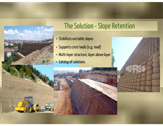 Ứng dụng Neoweb trong xây dựng tường chắn đất